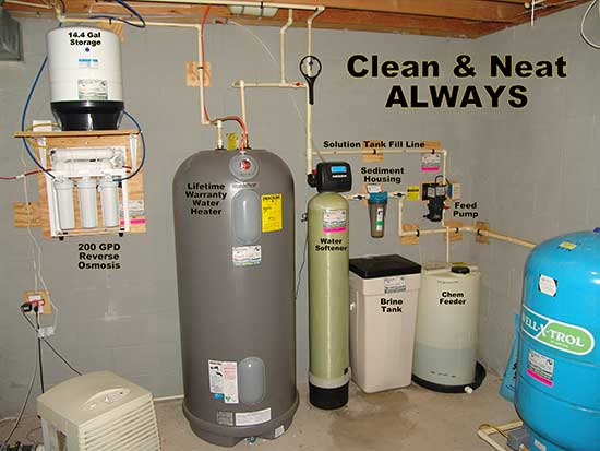 Reverse Osmosis, Water Heater, Water Softener, Chemical Feeder