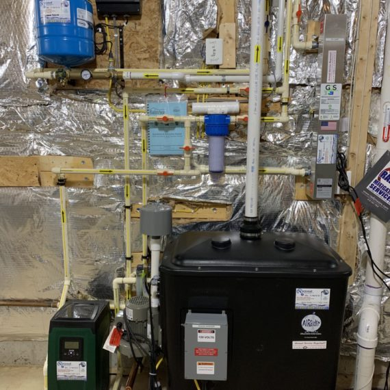 a radon remediation system with a pressure booster, a sump pump and a constant pressure system