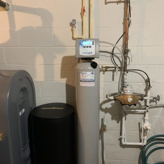 Water Right Water Softener with a Brine Tank for Hard Water
