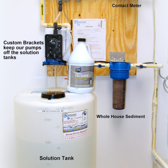 Solution Feeder for pH & corrosion control with a Sediment Filter