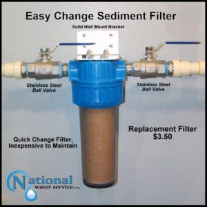 How to change a Sediment Filter