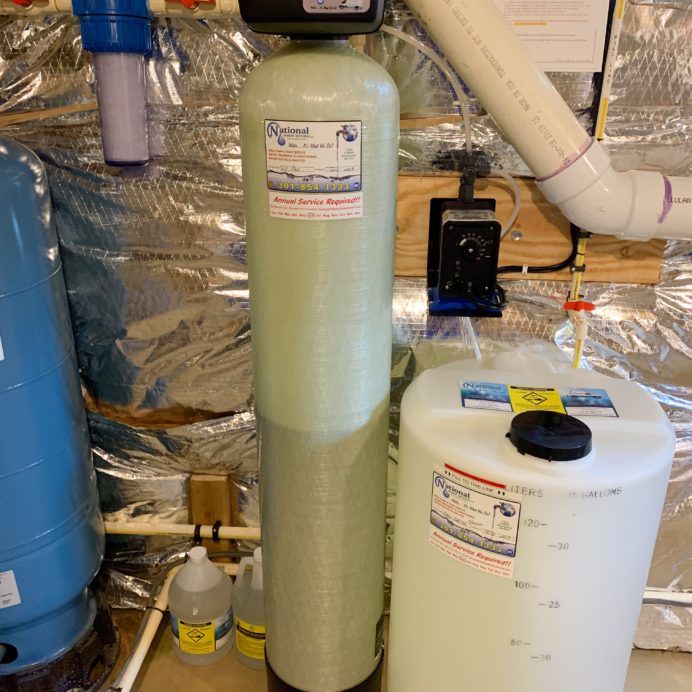 a kx pro, pressure tank, a sediment filter and a Solution feeder