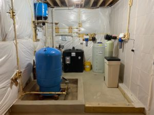 Pressure Tank, Reverse Osmosis, Sump Pump, Radon Removal, pre and post Sediment Filter, Solution Feeder and a water softener