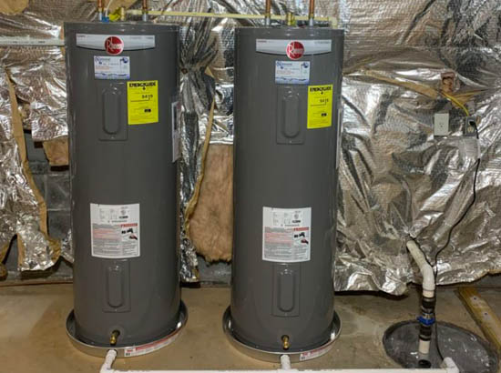 two water heater installs