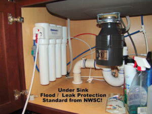 undersink reverse osmosis and leak protection