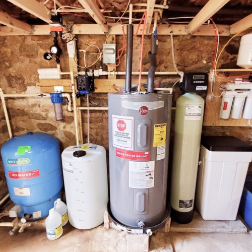 Pressure tank, Sediment Filter, Solution Feeder, Water Heater, Water Softener and a Reverse Osmosis