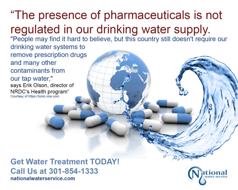 pharmaceuticals in city and bottled water