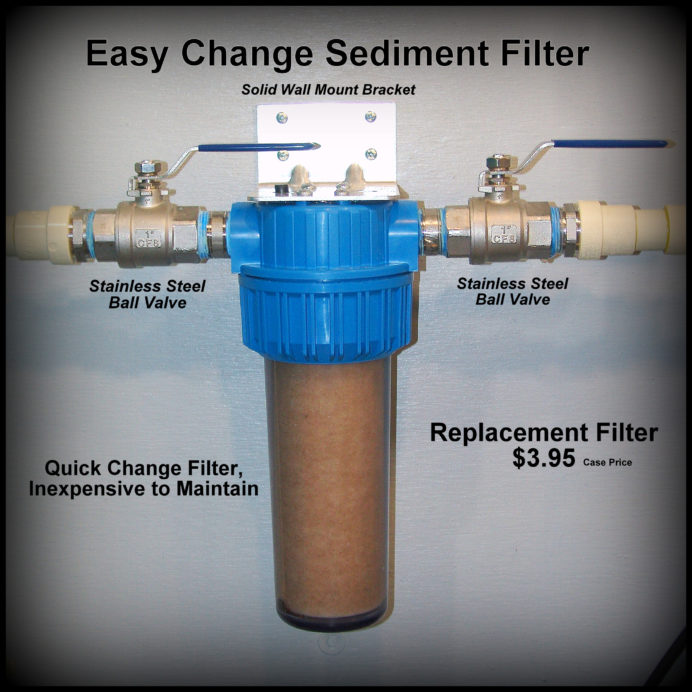 easy chaange sediment filter